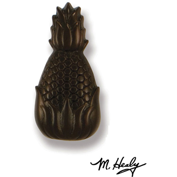 "1 3/4""W x 3 3/4""H Michael Healy Pineapple Doorbell Ringer, Oiled Bronze"