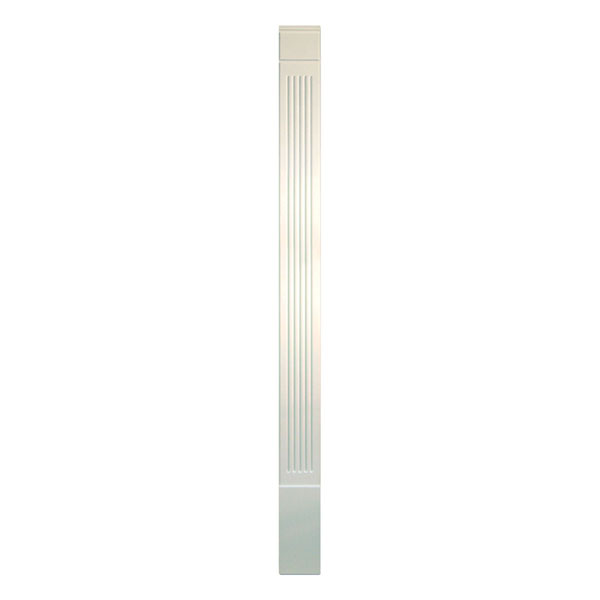 "7""W x 120""H x 1 5/16""P Fluted Economy Pilaster, with Adjustable Plinth Block, (set of 2), Urethane"