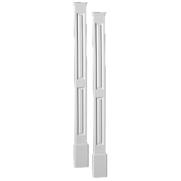 "7""W x 90""H x 1 5/16""P Double Panel Economy Pilaster, with Plinth Block, (set of 2)"