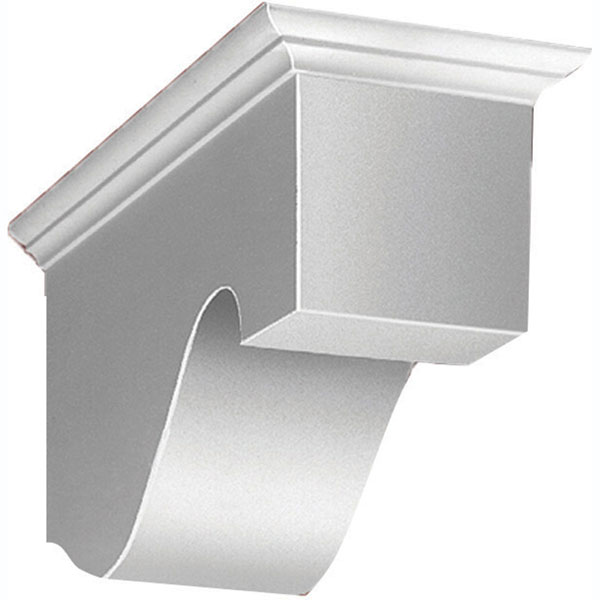 "8 1/4""W x 10 5/8""H x 22""P Decorative Corbel Dentil Block"