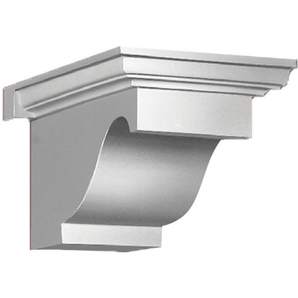 "9""W x 8""H x 14""P Decorative Corbel Dentil Block"