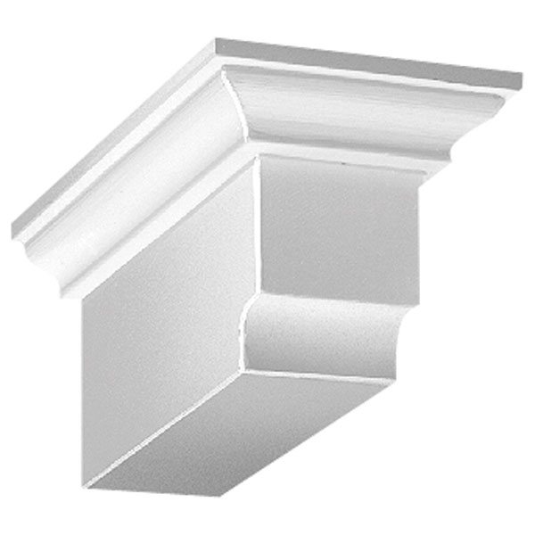 "4 3/8""W x 3 7/8""H x 9""P Decorative Corbel Dentil Block"