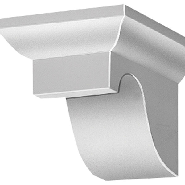"7 1/4""W x 6""H x 9 1/4""P Decorative Corbel Dentil Block"