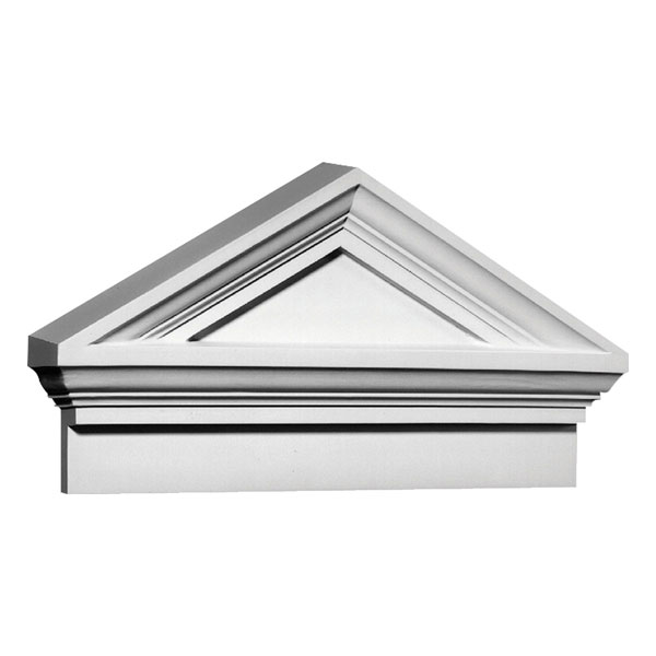 "37 5/8""W x 20 1/2""H x 41 3/4""OW Combination Cap Pediment"