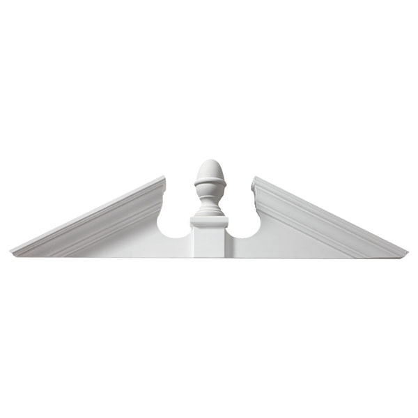 "105-115""W x 25 5/8""H x 4 1/2""P, Pitch 6 / 12 Adjustable Acorn Pediment"