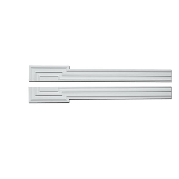 "5/12""W x 114""OH x 1 3/4""P Door/Window Pilaster Crossette Trim"