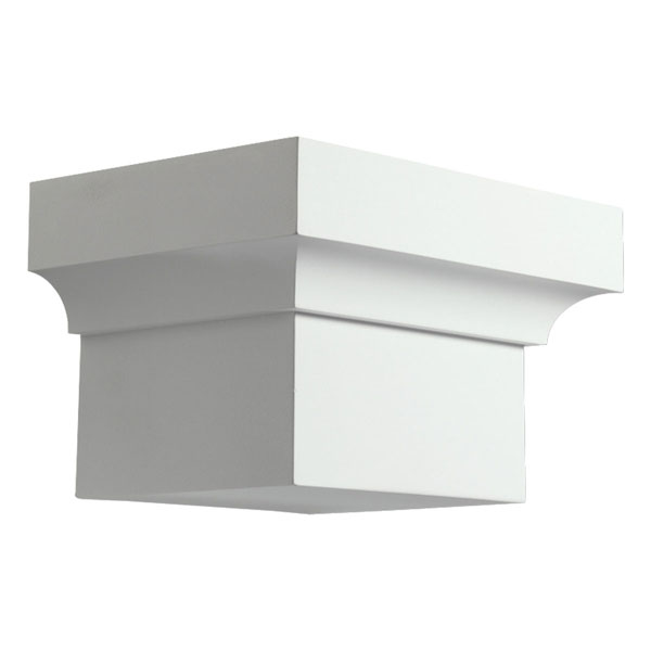 "8 3/4""W x 5 1/2""H x 6 1/2""P Decorative Dentil Block"
