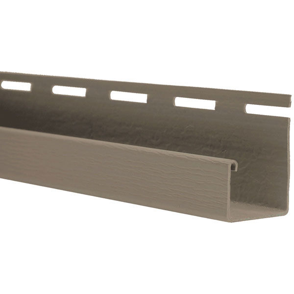 "3/4""W x 105 1/2""L J-Channel For use with all Vinyl Siding systems excluding Staggered Shakes, (20 Strips/ctn. = 176 Ln. Feet)"