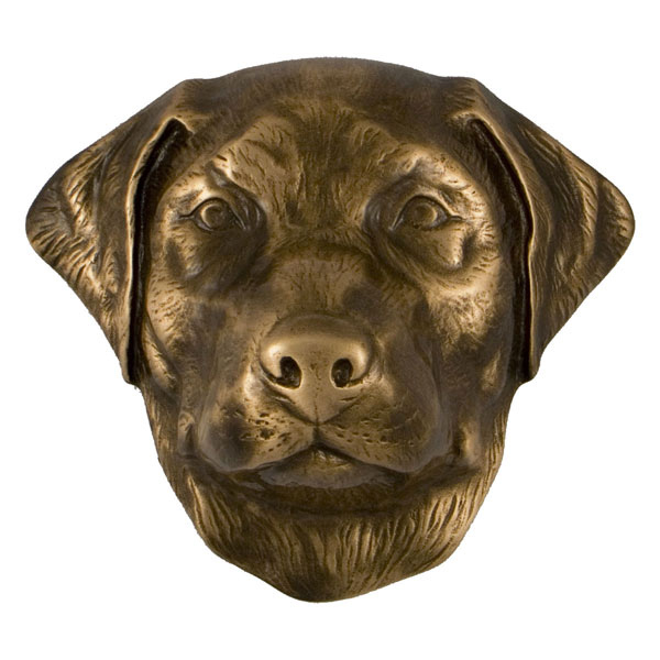 "3""W x 4""D x 4""H Michael Healy Labrador Retriever Door Knocker, Bronze"