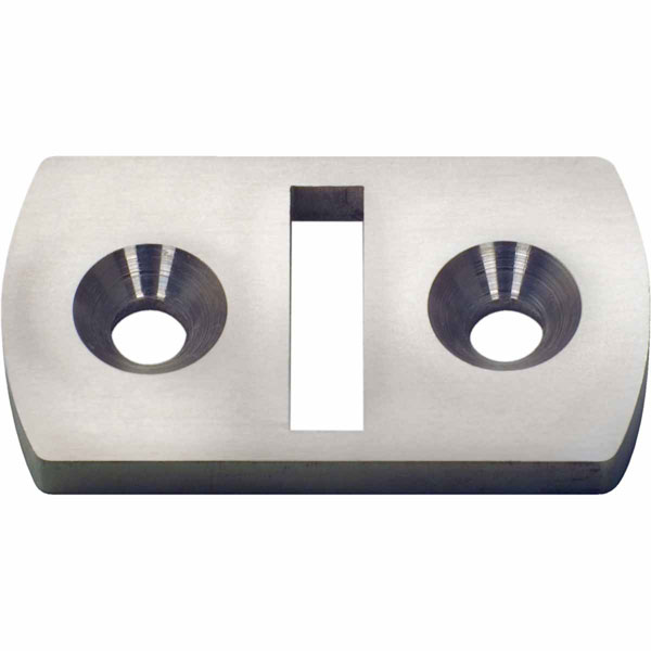 "2 1/4""W x 1 1/4""H x 1/4""P Stainless Steel Cable Brace Floor Plate"