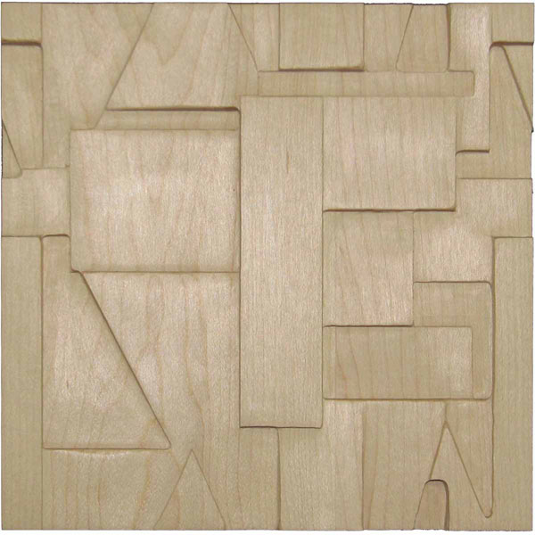 "6""W x 6""H x 3/4""P Wood Chip Tile"