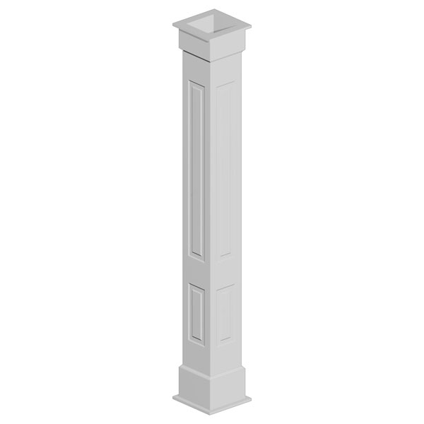 good fypon column #4: Double Raised Panel Non-Tapered Fypon Column Wrap Kit