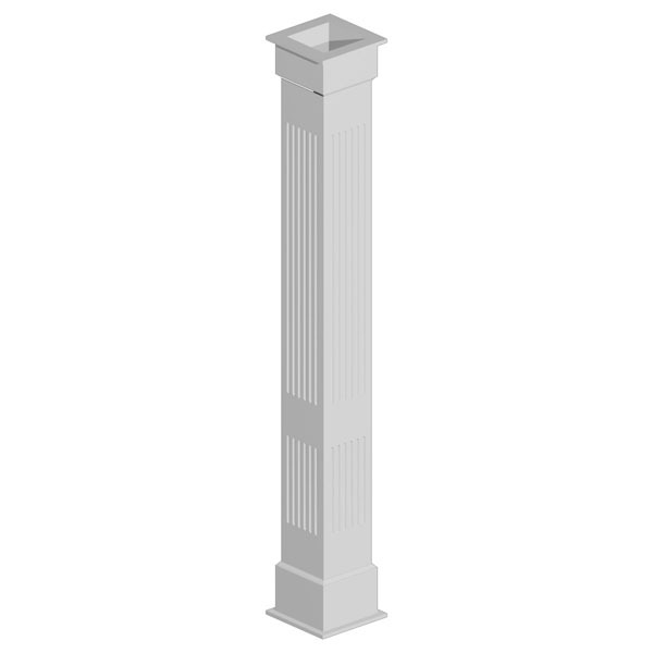 Double Fluted Non-Tapered Fypon Column Wrap Kit