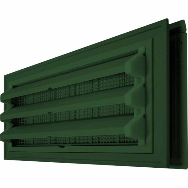 "18 1/2""W x 9 3/8""H x 2 1/8""D Foundation Master Molded Kit, Fixed Louver for New Construction or Remodeling"