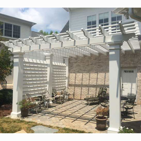 8' Privacy Screen for 12' x 12' Pergola (Use with Model #'s HB920001 &  HB920101) - Rail FX HB910120 8' Privacy Screen For 12' X 12' Pergola (Us