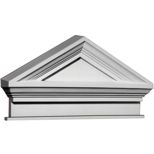 "37 5/8""W x 21 1/2""H x 41 3/4""OW Combination Cap Pediment w/ Bottom Trim"