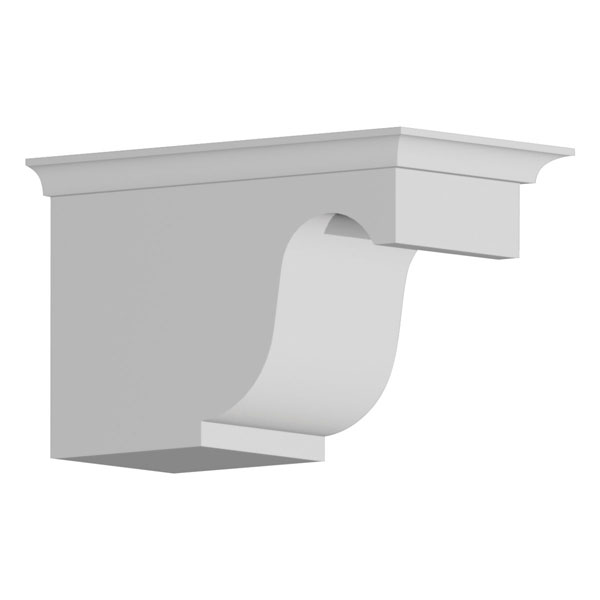 "4 7/8""W x 5 3/8""H x 8 11/16""P Decorative Corbel Dentil Block"
