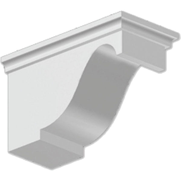 "5 1/2""W x 6 3/4""H x 11 1/2""P Decorative Corbel Dentil Block"