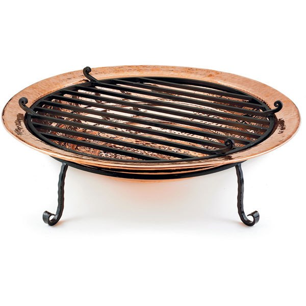 "24""W x 7""H Small Fire Pit, Polished Copper"