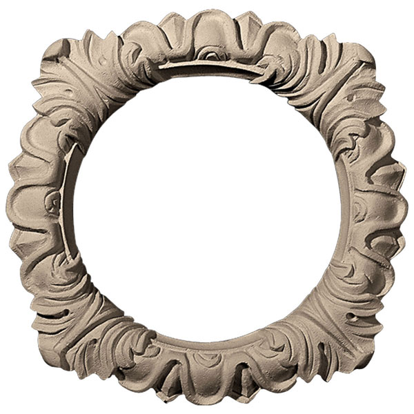 "Approx. 5-3/4"" O.D x 3-3/4"" I.D x 1/2"" Acanthus leaf lighting trim."