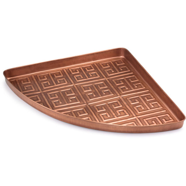 "31""W x 22 1/2""L x 2""H Athens Multi-Purpose Shoe Tray, Copper Finish"