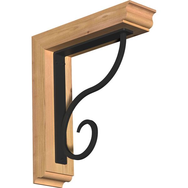 Ashford Traditional Ironcrest Rustic Timber Wood Bracket