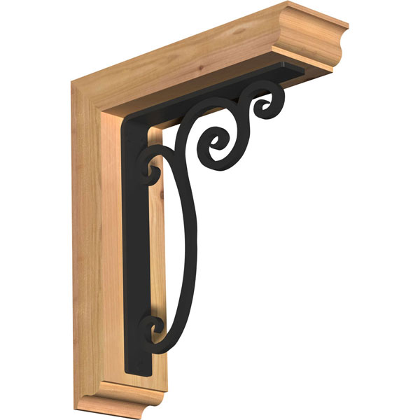 Avery Traditional Ironcrest Rustic Timber Wood Bracket