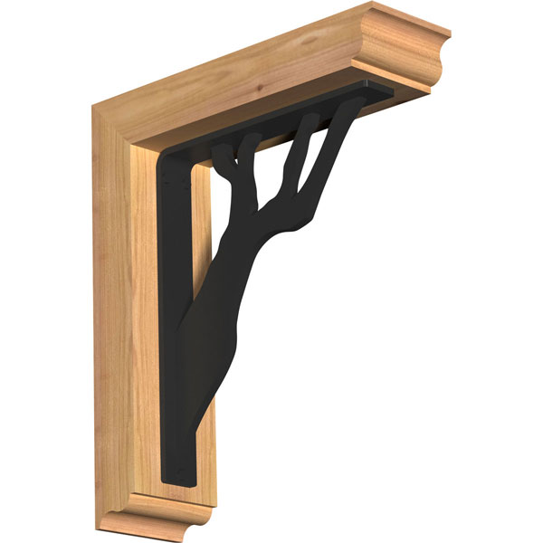 Damon Traditional Ironcrest Rustic Timber Wood Bracket