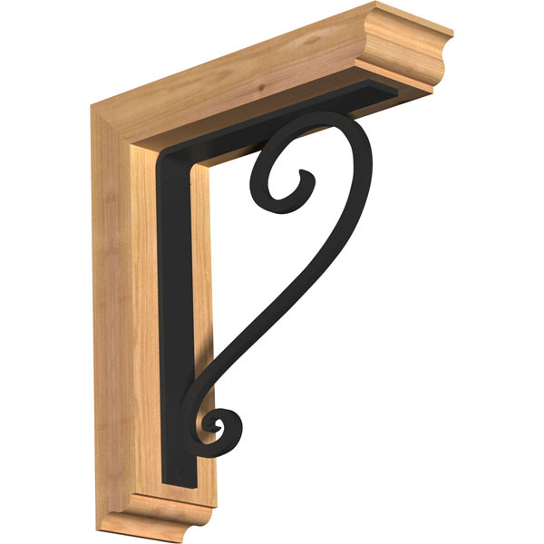 Edwards Traditional Ironcrest Rustic Timber Wood Bracket