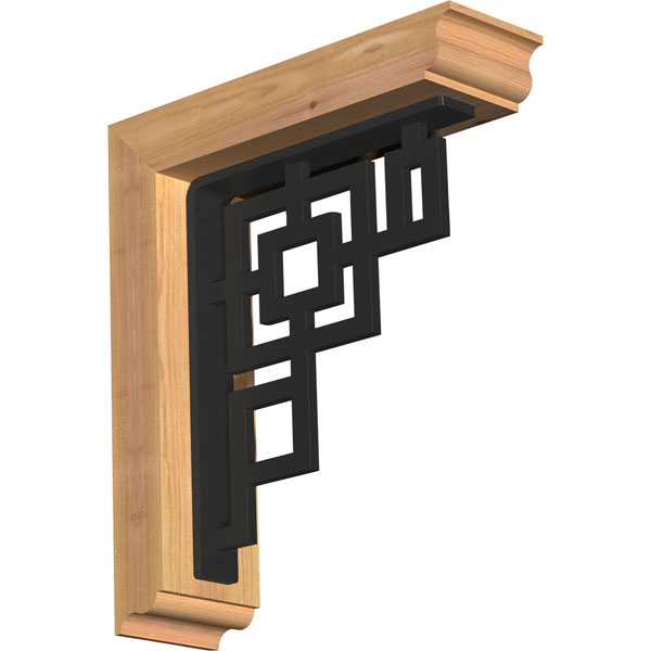 Eris Traditional Ironcrest Rustic Timber Wood Bracket