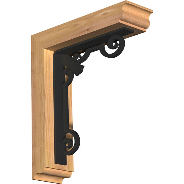 Fleur De Lis Traditional Ironcrest Rustic Timber Wood Bracket