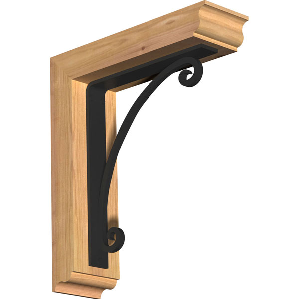 Legacy Traditional Ironcrest Rustic Timber Wood Bracket