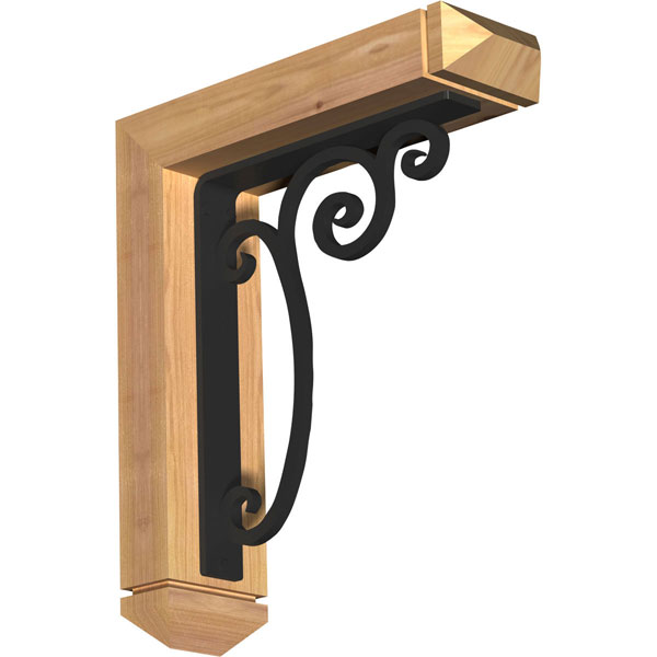 Avery Arts & Crafts Ironcrest Rustic Timber Wood Bracket
