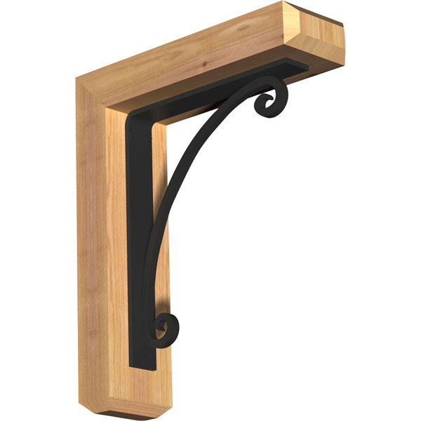 Legacy Craftsman Ironcrest Rustic Timber Wood Bracket