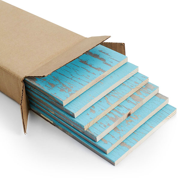 "5 1/2""W x 11/32""D x 47 1/2""L, Skinnies Wood Panel, Blue Chalk (6 Pieces)"