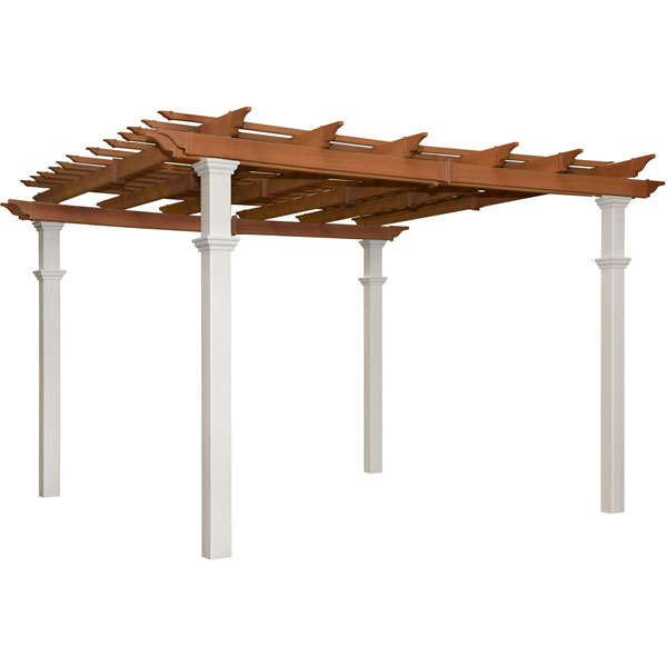 "120""W x 120""D x 109""H Bordeaux Two-Tone 10 x 10 Pergola"