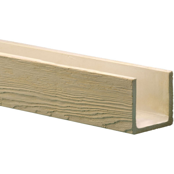 Fypon ltd bmmrdw 3 sided u beam mesa redwood faux wood b for Fypon beams