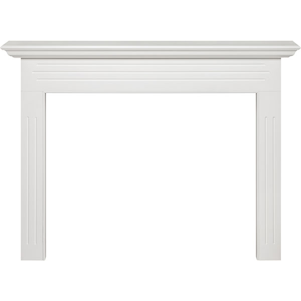 "40""IH x 51""H x 7""D x 48""IW x 65""OW Newport Fireplace Mantel, White"