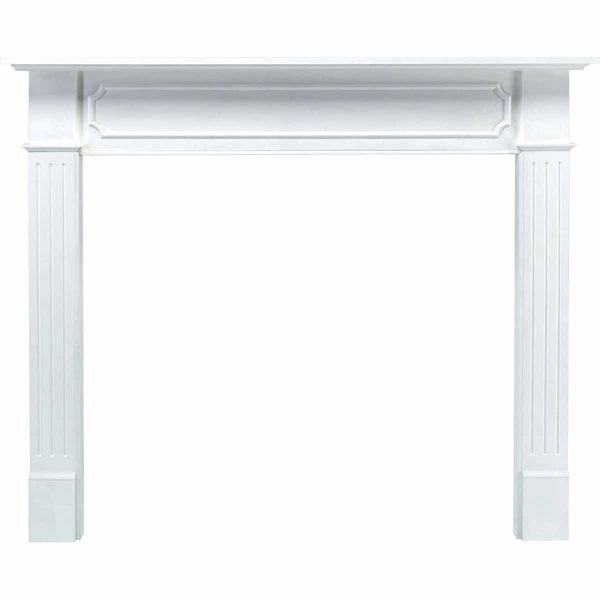 "42""IH x 52""H x 8""D x 48""IW x 62""OW Berkley Fireplace Mantel, White"