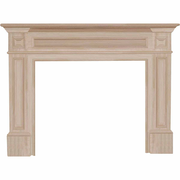 "42""IH x 56""H x 8""D Classique Fireplace Mantel, Unfinished"