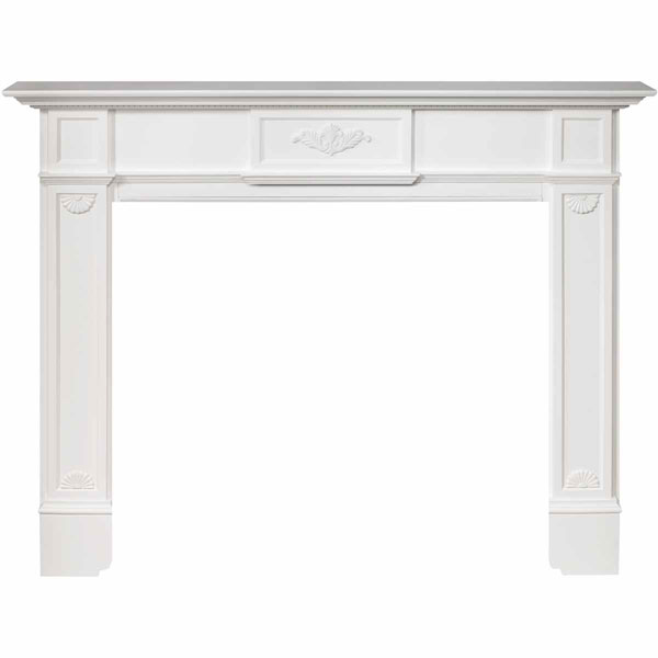 "42""IH x 54""H x 8""D Monticello Fireplace Mantel, White"