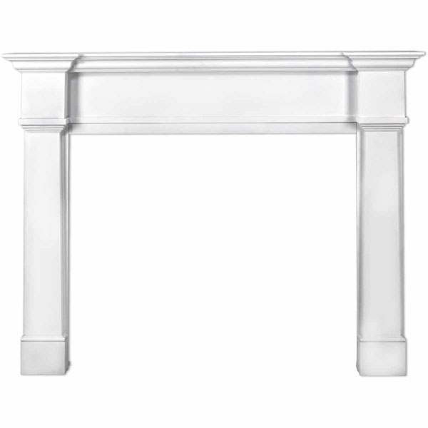 "42""IH x 57 1/4""H x 8""D Richmond Fireplace Mantel, White"