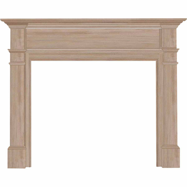 "42""IH x 57""H x 8""D Windsor Fireplace Mantel, Unfinished"