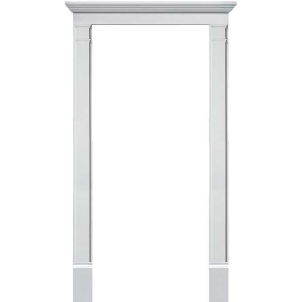 Single Door Surround Kit with Crosshead w/ Plain Pilasters