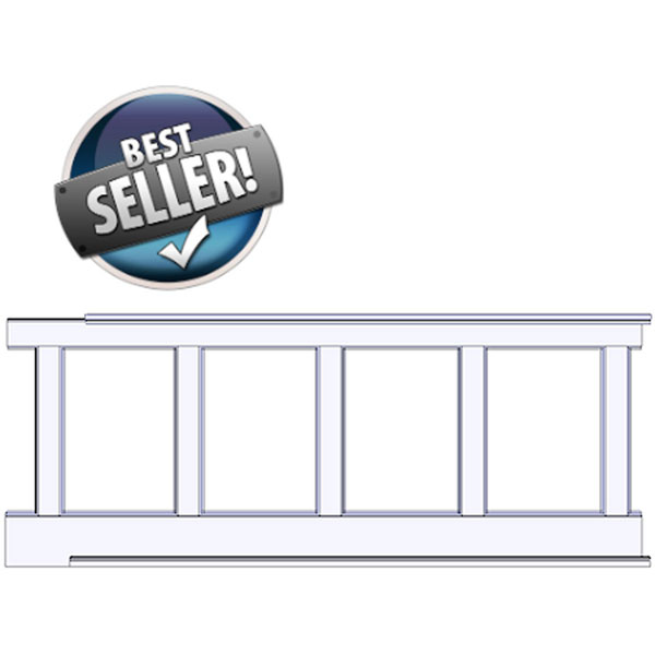 "Elite Recessed, Wall Paneled Wainscot Kit, 38"" high"