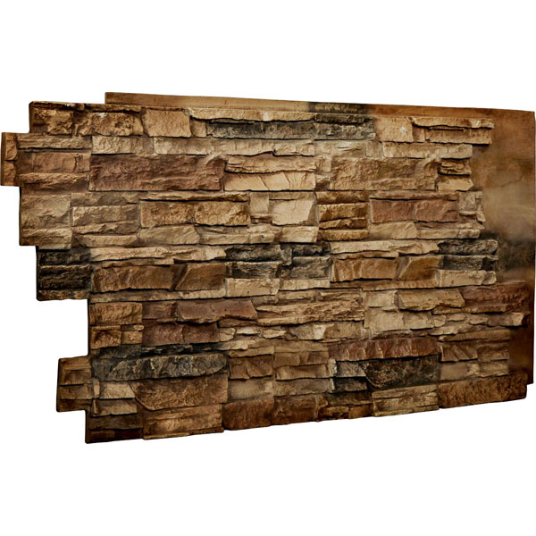 "48""W x 25""H x 1 1/2""D Stacked Endurathane Faux Stone Siding Panel"