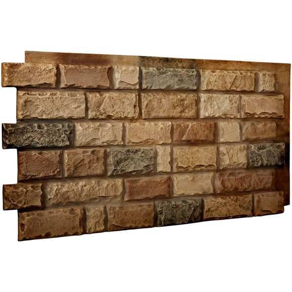 "48""W x 25""H x 1 1/2""D Cut Coarse Random Endurathane Faux Rock Siding Panel"