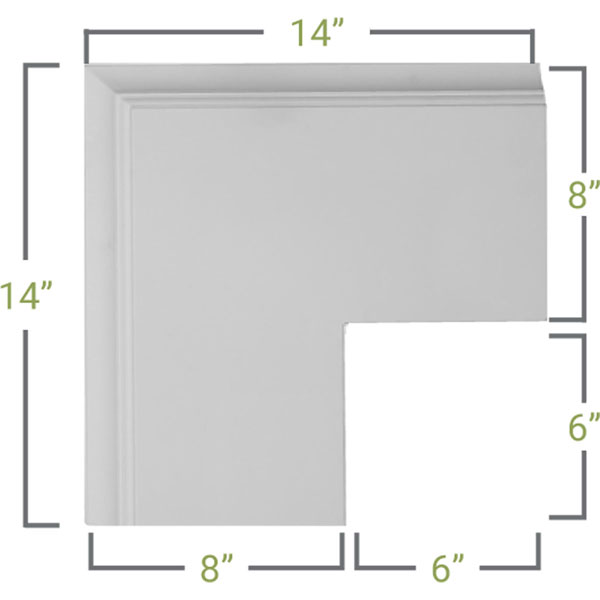 CC08POC02X14X14TR Deluxe Coffered Ceiling System - Coffered Ceilings