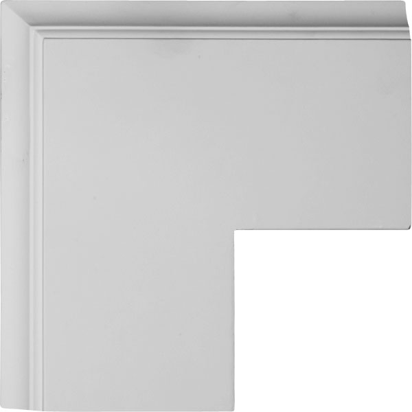 "14""W x 2""P x 14""L Perimeter Outside Corner for 8"" Traditional Coffered Ceiling System"