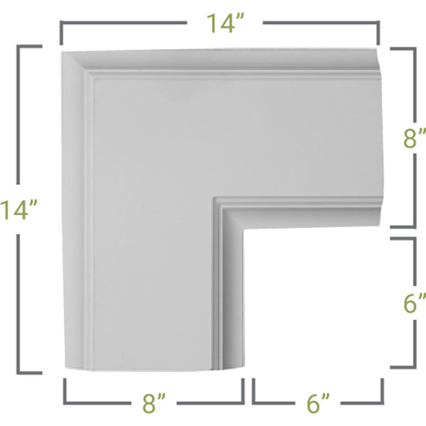 CC08ICN02X14X14TR Deluxe Coffered Ceiling System - Coffered Ceilings